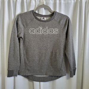 Adidas Girls Sweatshirt Gray With Sparkles. Size L